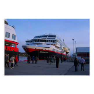 Norway, Cruise ship in port Print