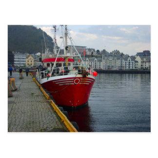 Norway, Deep water fishing vessel in port Postcard