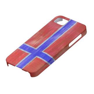 Norway distressed Norwegian flag iPhone 5 Cases