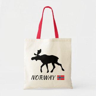 Norway Elk and flag Tote Bag