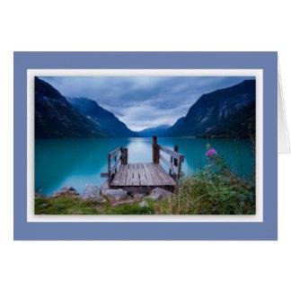 Norway Fjord Card