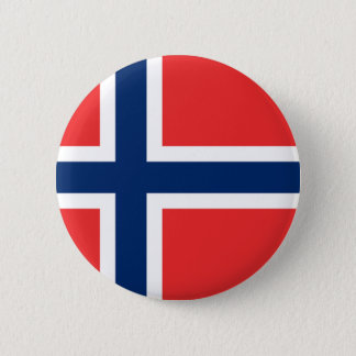 Norway Flag 2 Inch Round Button