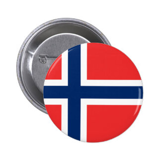 Norway Flag 2 Inch Round Button