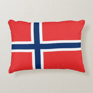 Norway Flag Accent Pillow
