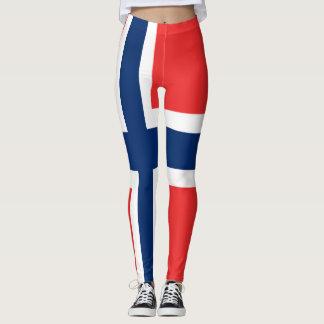 Norway flag all over design leggings
