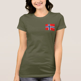 Norway Flag and Map dk T-Shirt