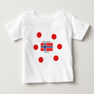 Norway Flag And Norwegian Language Design Baby T-Shirt