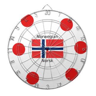 Norway Flag And Norwegian Language Design Dartboard
