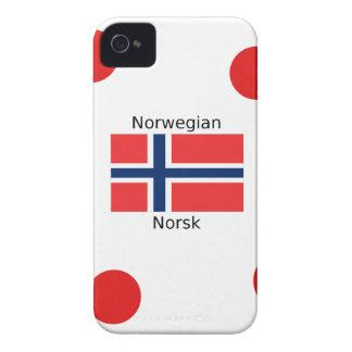 Norway Flag And Norwegian Language Design iPhone 4 Case