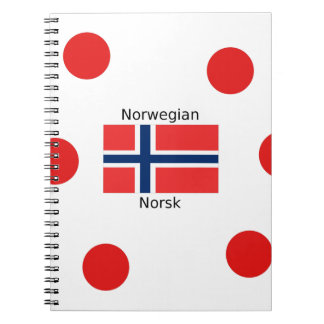 Norway Flag And Norwegian Language Design Notebook