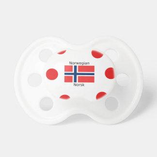 Norway Flag And Norwegian Language Design Pacifier
