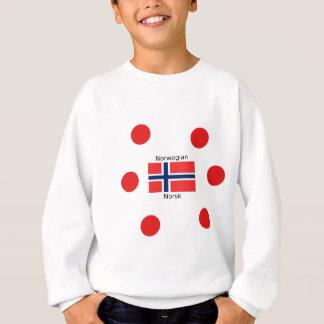 Norway Flag And Norwegian Language Design Sweatshirt
