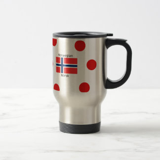 Norway Flag And Norwegian Language Design Travel Mug