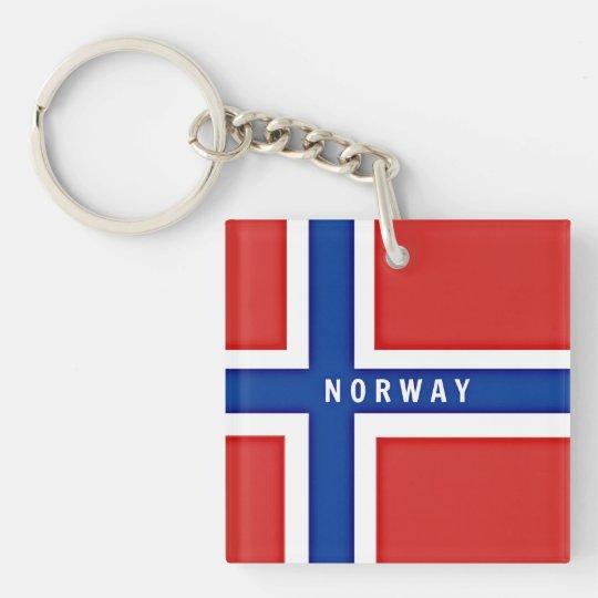 Norway Flag custom design Double-Sided Square Acrylic Keychain