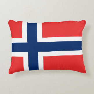Norway Flag Decorative Pillow