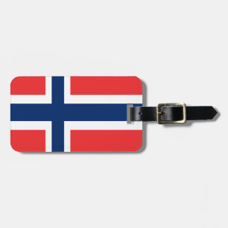 Norway flag design on product luggage tag