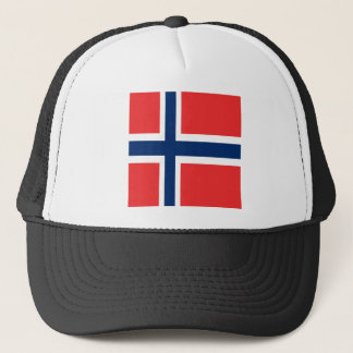 Norway flag design on product trucker hat
