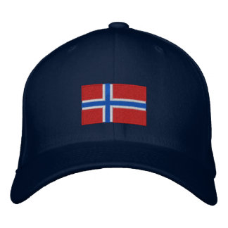 Norway flag embroidered flexfit wool hat baseball cap