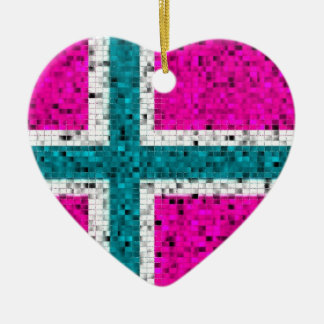 Norway Flag glitter ornament