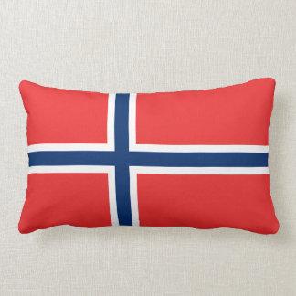 Norway Flag Lumbar Pillow