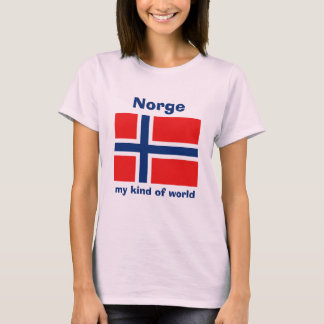 Norway Flag + Map + Text T-Shirt