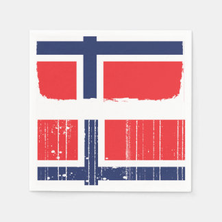 Norway Flag Paper Napkins