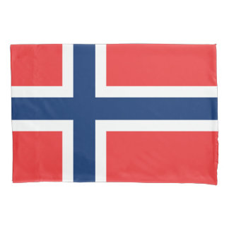 Norway flag pillowcase sleeve for Norwegian pride