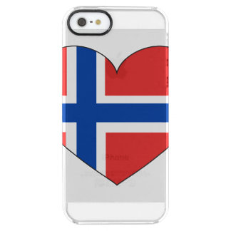 Norway Flag Simple Clear iPhone SE/5/5s Case
