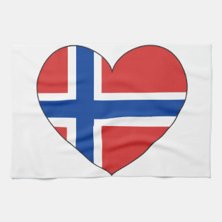 Norway Flag Simple Kitchen Towel
