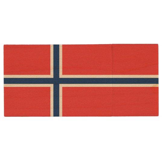 Norway Flag Wood USB 3.0 Flash Drive