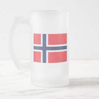 Norway Frosted Glass Beer Mug