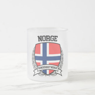 Norway Frosted Glass Coffee Mug