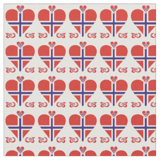 Norway Hearts and Swirls small pattern Fabric