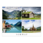 Norway landscapes collage text postcard