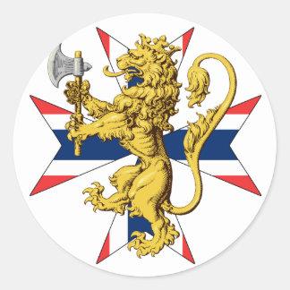 Norway Lion Cross Norwegian Flag Classic Round Sticker