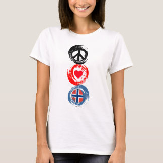 Norway Love Peace T-Shirt 3