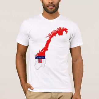 Norway Map Designer Shirt Apparel Sale Him or Hers