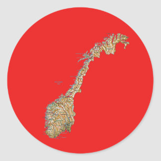 Norway Map Sticker