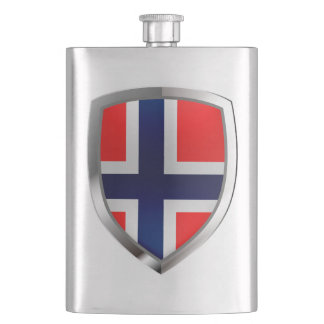 Norway Metallic Emblem Hip Flask