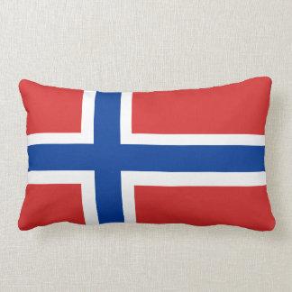 Norway / Norge Norwegian Flag (no text) Accent Lumbar Pillow