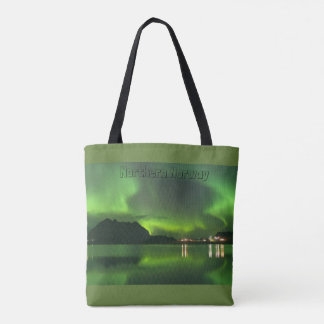 Norway, Northern Lights, All-Over-Print Tote Bag