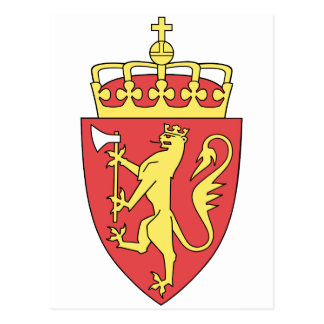 Norway Official Coat Of Arms Heraldry Symbol Postcard