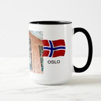 Norway, Oslo City Hall, mural Mug
