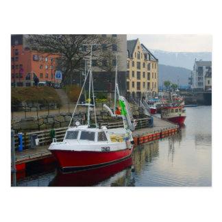 Norway, port on the north coast postcard