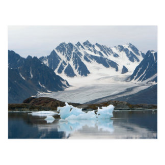 Norway, Receding Glacier and iceberg Postcard