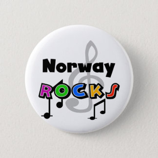 Norway Rocks 2 Inch Round Button