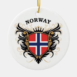 Norway Round Ceramic Ornament