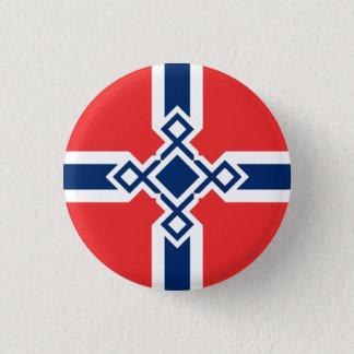 Norway Rune Cross Badge 1 Inch Round Button