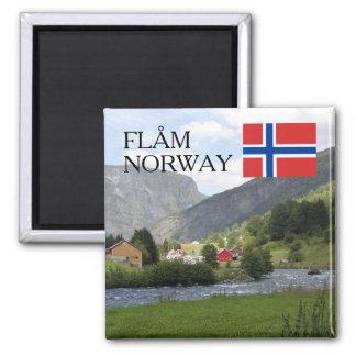 Norway Scandinavia mountains Flam travel souvenir Magnet