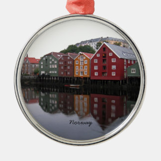 Norway Silver-Colored Round Ornament